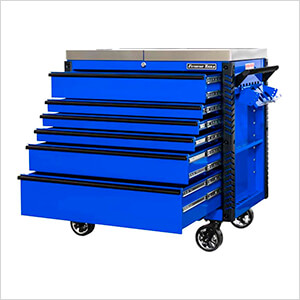 EX Series Blue  41-Inch 6-Drawer Deluxe Slider Top Tool Cart