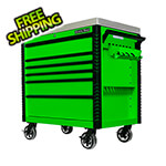 Extreme Tools EX Series Green 41-Inch 6-Drawer Deluxe Slider Top Tool Cart