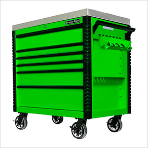 EX Series Green 41-Inch 6-Drawer Deluxe Slider Top Tool Cart