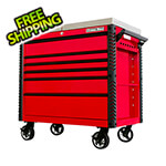 Extreme Tools EX Series Red 41-Inch 6-Drawer Deluxe Slider Top Tool Cart