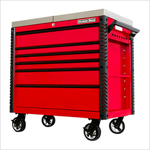 EX Series Red 41-Inch 6-Drawer Deluxe Slider Top Tool Cart