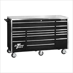 Professional Black 72-Inch 17-Drawer Roller Cabinet Tool Chest