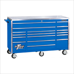 Professional Blue 72-Inch 17-Drawer Roller Cabinet Tool Chest