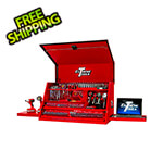 Extreme Tools 41-Inch Deluxe Red Portable Workstation with 3-Drawers