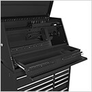41-Inch Deluxe Portable Workstation and Roller Cabinet Set (Black)