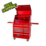 Extreme Tools 41-Inch Deluxe Portable Workstation and Roller Cabinet Set (Red)
