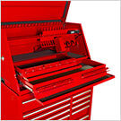 41-Inch Deluxe Portable Workstation and Roller Cabinet Set (Red)