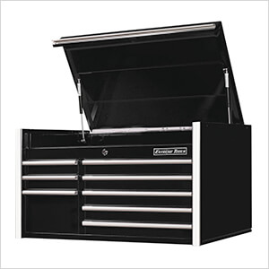 RX Series 41-Inch Black 8-Drawer Top Chest