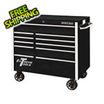 Extreme Tools RX Series 41-Inch Black 11-Drawer Roller Cabinet