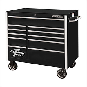 RX Series 41-Inch Black 11-Drawer Roller Cabinet