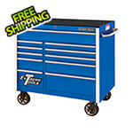 Extreme Tools RX Series 41-Inch Blue 11-Drawer Roller Cabinet