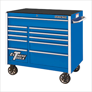 RX Series 41-Inch Blue 11-Drawer Roller Cabinet