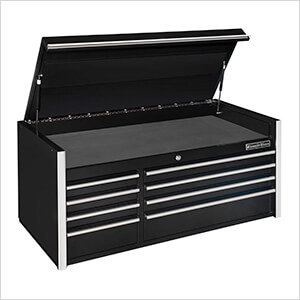 RX Series 55-Inch Black 8-Drawer Top Chest