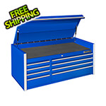 Extreme Tools RX Series 55-Inch Blue 8-Drawer Top Chest