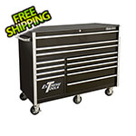 Extreme Tools RX Series 55-Inch Black 12-Drawer Roller Cabinet
