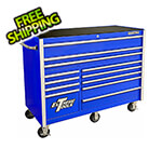 Extreme Tools RX Series 55-Inch Blue 12-Drawer Roller Cabinet