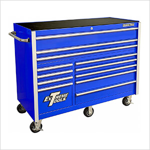 RX Series 55-Inch Blue 12-Drawer Roller Cabinet