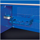 RX Series 72-inch Blue Deep Triple Bank Hutch