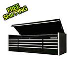 Extreme Tools RX Series 72-Inch Black 12-Drawer Top Chest