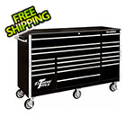 Extreme Tools RX Series 72-Inch Black 19-Drawer Roller Cabinet