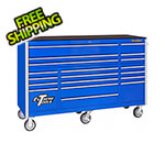 Extreme Tools RX Series 72-Inch Blue 19-Drawer Roller Cabinet