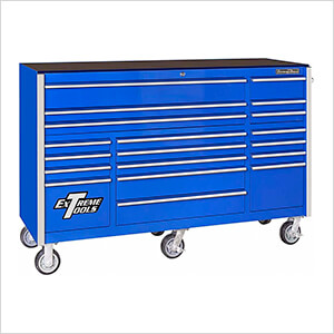 RX Series 72-Inch Blue 19-Drawer Roller Cabinet