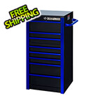 Extreme Tools RX Series Black with Blue Trims 19-inch 7-Drawer Side Box