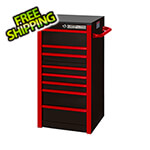 Extreme Tools RX Series Black with Red Trims 19-inch 7-Drawer Side Box