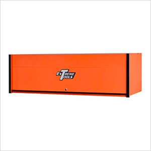 RX Series 72-Inch Orange Hutch with Black Trim