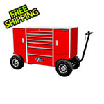 Extreme Tools 70-Inch Red Pit Box with 7 Drawers and 2 Side Compartments