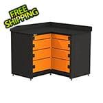 Swivel Storage Solutions 4-Drawer Corner Tool Storage Unit