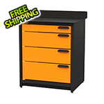 "Swivel Storage Solutions 4-Drawer 30"" Tool Storage Unit"