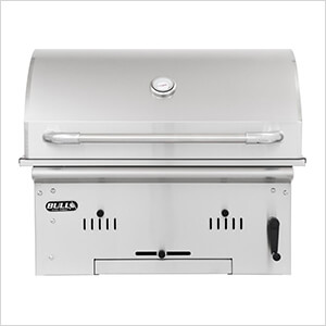 Premium Bison 30-Inch Built-In Charcoal Grill