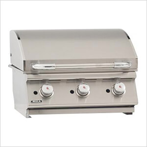 24-Inch Built-In Commercial Style Flat Top Griddle (Natural Gas)