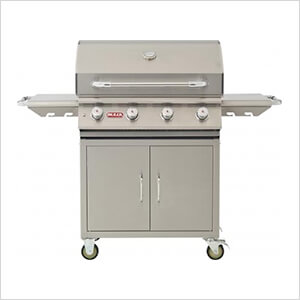 Lonestar 30-Inch 4-Burner 60K BTUs Freestanding Grill with Lights (Natural Gas)