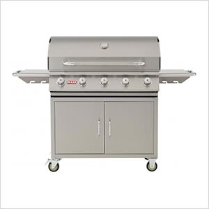 Renegade 38-Inch 5-Burner 75K BTUs Freestanding Grill (Natural Gas)