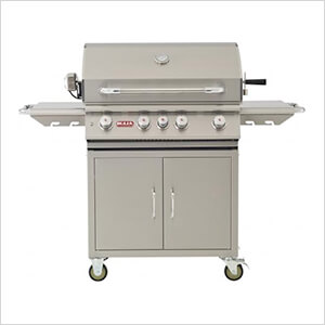 Angus 30-Inch 4-Burner 75K BTUs Freestanding Grill with Lights and Rotisserie (Liquid Propane)