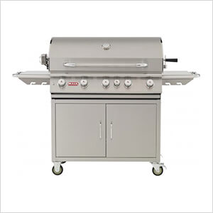 Brahma 38-Inch 5-Burner 90K BTUs Grill Cart with Lights and Rotisserie (Natural Gas)