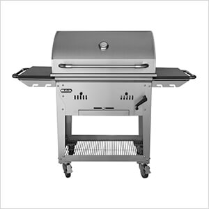 Premium Bison 30-Inch Freestanding Charcoal Grill