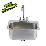 Bull Outdoor Products 19-Inch Outdoor Single Bowl Stainless Steel Drop-In Sink