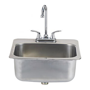 19-inch Outdoor Single Bowl Stainless Steel Drop-in Sink