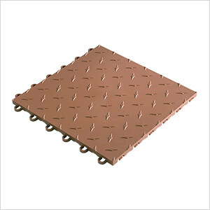 "12"" x 12"" Brown Garage Floor Tile (10 Pack)"