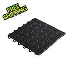 """Speedway Tile 12"""" x 12"""" Black Garage Floor Tile (10 Pack)"""
