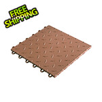 "Speedway Tile 12"" x 12"" Brown Garage Floor Tile (50 Pack)"