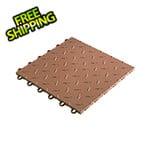 "Speedway Tile 12"" x 12"" Brown Garage Floor Tile (50 Pack)"