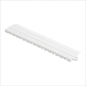 White Garage Floor Tile Ramp - Pegged (10 Pack)