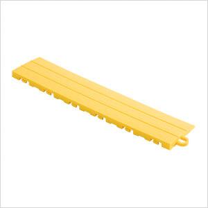 Yellow Garage Floor Tile Ramp - Pegged (10 Pack)