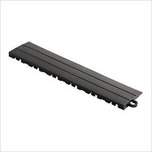 Black Garage Floor Tile Ramp - Pegged (10 Pack)