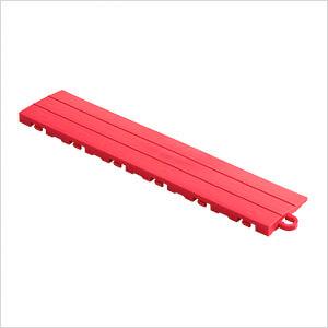 Red Garage Floor Tile Ramp - Pegged (10 Pack)