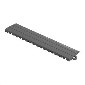 Grey Garage Floor Tile Ramp - Pegged (10 Pack)